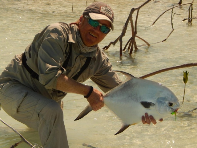 Permit - caught and released on Andros Island West Side