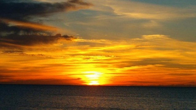 Another Red Bays Sunset as viewed from Benry Smith's Red Bay Lodge on Andros Island, Bahamas