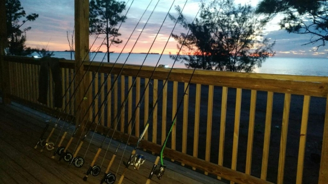 Fly rods are the primary equipment used to target Bonefish, Tarpon and Permit on the West side of Andros. However spinning rods with large surface lures are a great way to target the big barracudas that frequent the flats.
