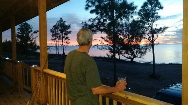 Relaxing after a day of flats fishing at Red Bay Lodge - Andros Island